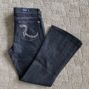Rock & Republic Black Wash Flare Jean